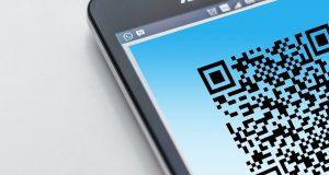 QR-kod på mobilskärm